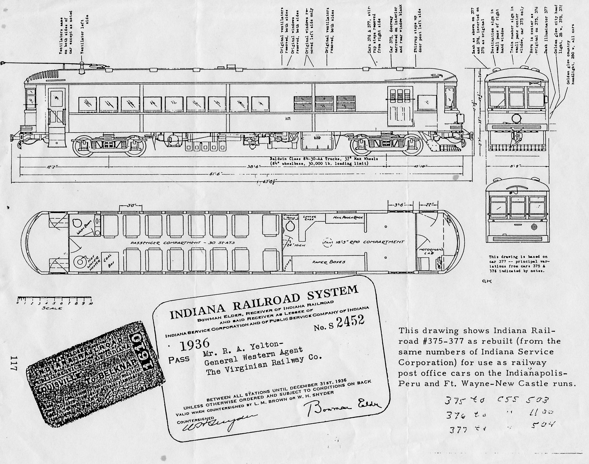 Historic Indiana Railroad Blueprint!