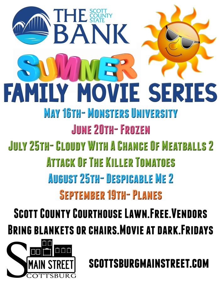 Scott County State Bank Summer Movie Series!