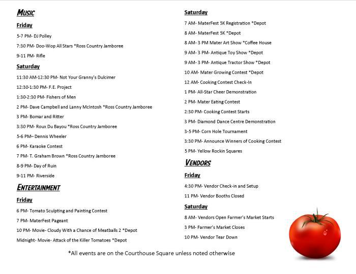 MaterFest Program!