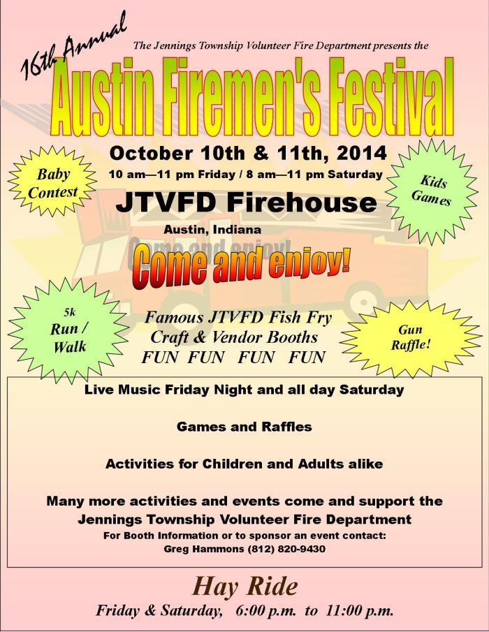2014 Austin Firemen's Festival Flyer