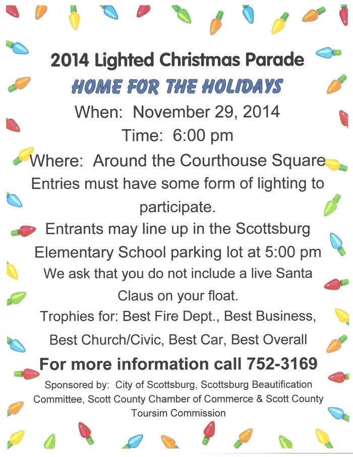 2014 Christmas Parade Flier